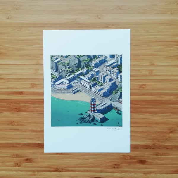Image of Seaside Town - SIGNED PRINT