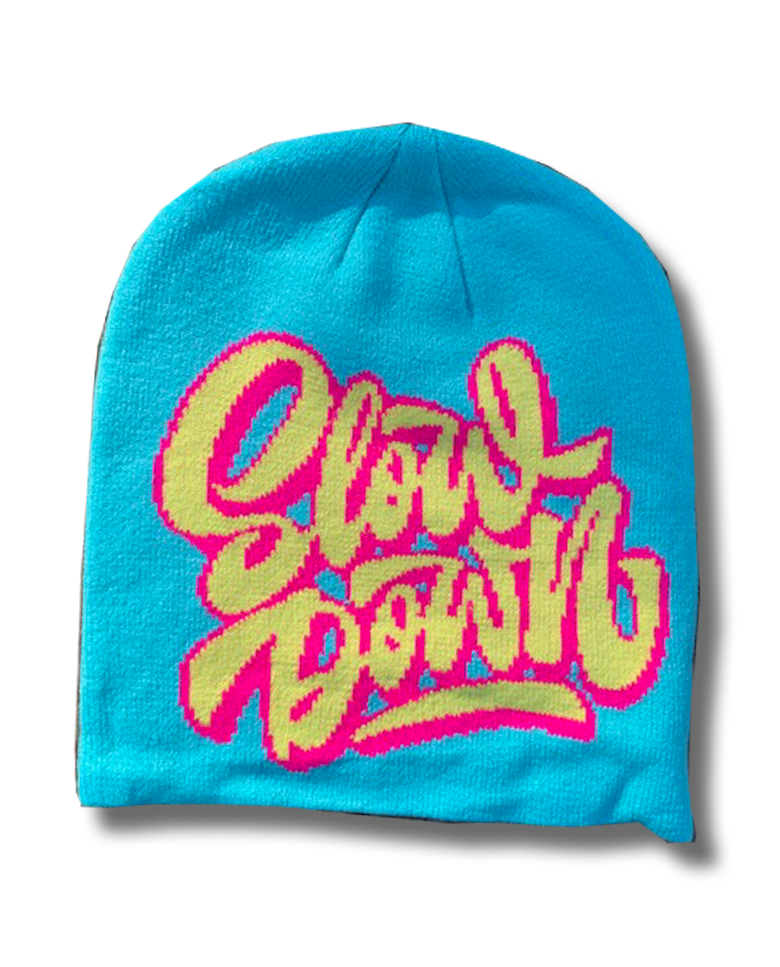 Image of Logo Beanie Turq Pink yellow