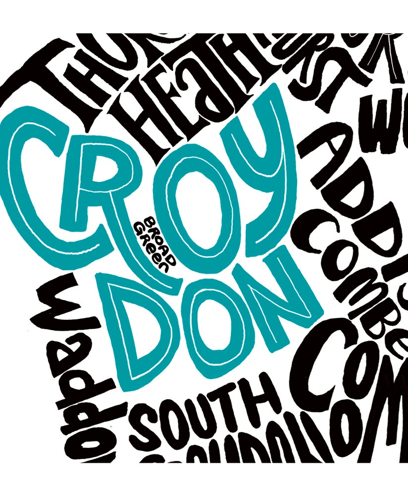 Image of London Borough of Croydon - Districts Type Map