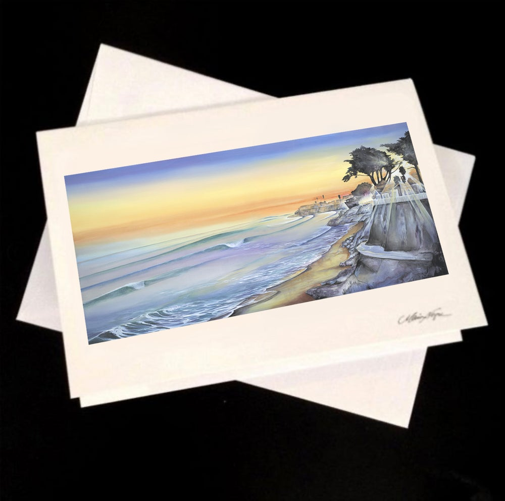 Image of Sunset at Pleasure Point, 5-Pack Greeting Card Set