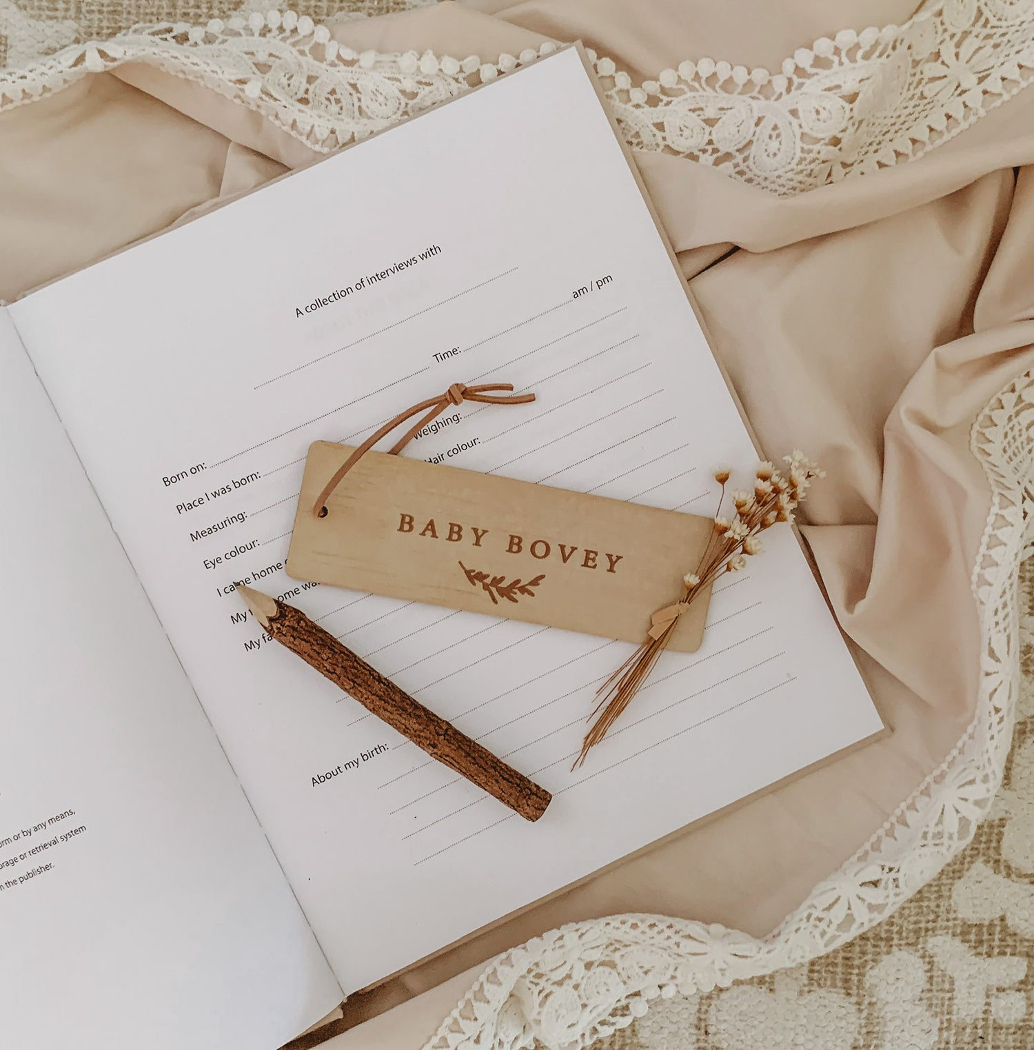Image of MOTHER'S DAY: Block font | Timber bookmark