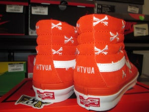 """Image of Vans SK8 High x WTAPS """"Orange/Bones"""""""