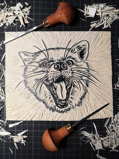 Image of Fox Linoprint