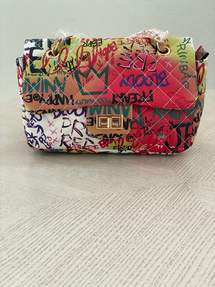 Image of Graffiti bag (available in red and white)