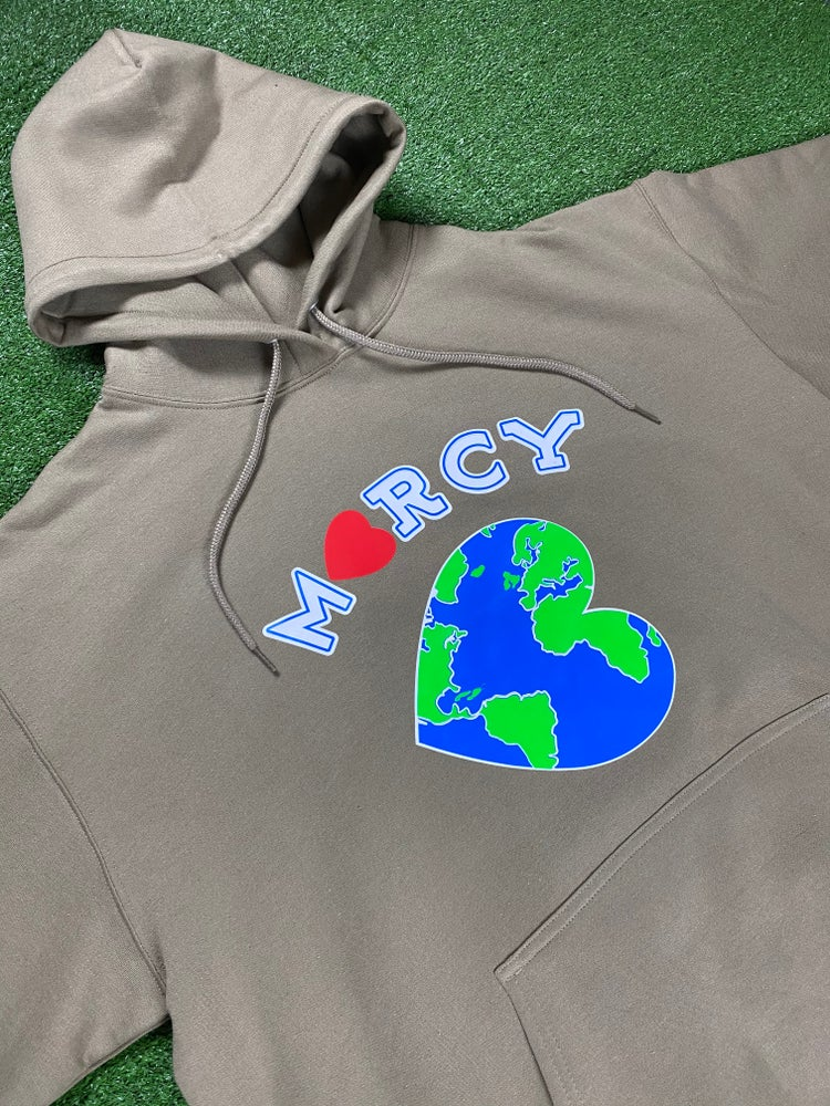 """Image of """"WORLD CHANGER"""" hoodie (sand)"""