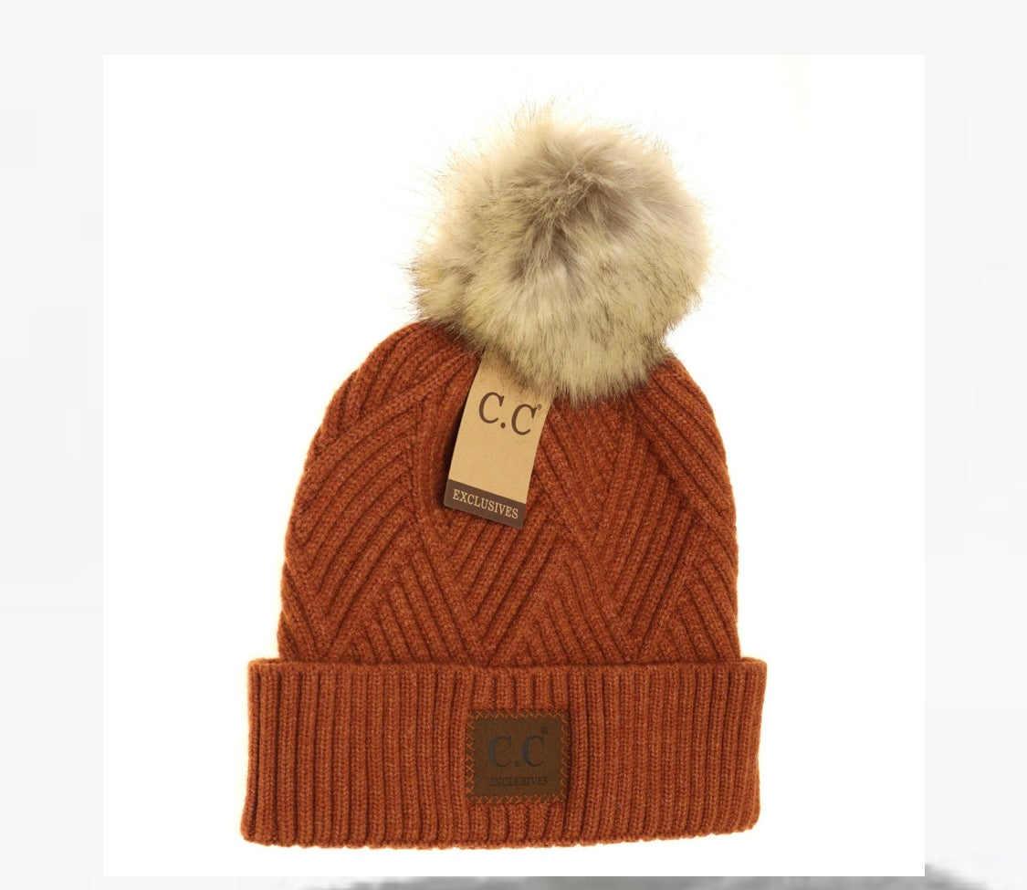 Image of Heather Beanie Pom Hat