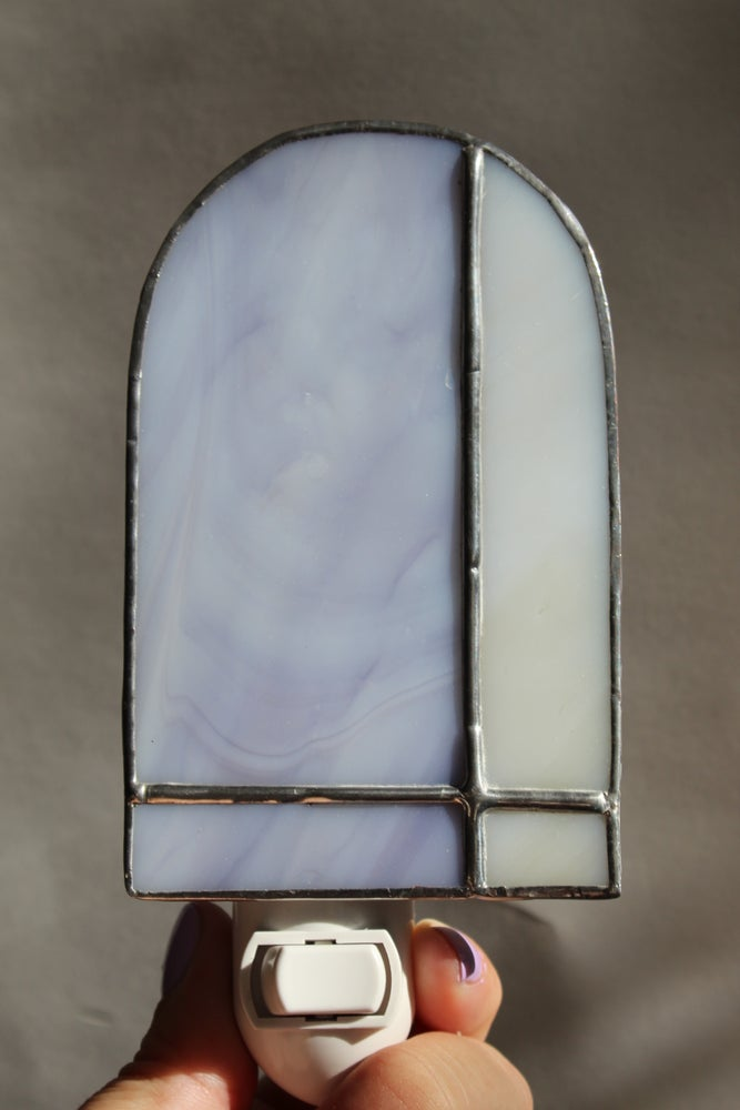Image of Archway Night Light // Lavender Swirl +  Cream Swirl