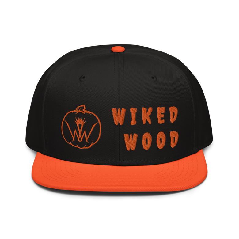 Image of Wiked Wood Fall Snap Back Hat (ORANGE)