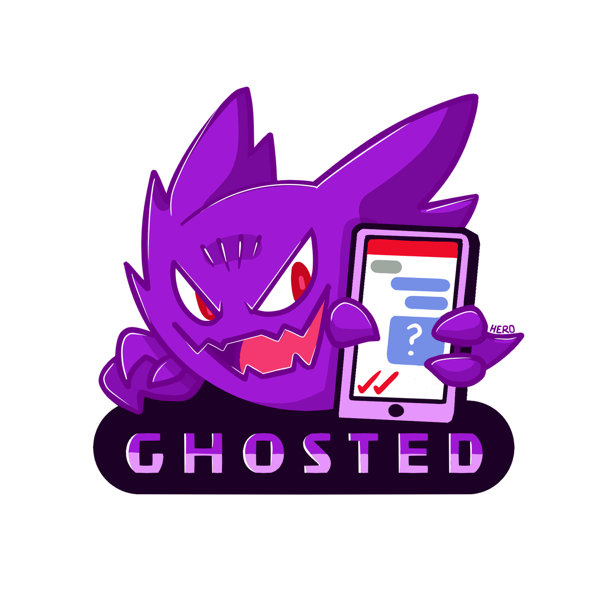 GHOSTED sticker