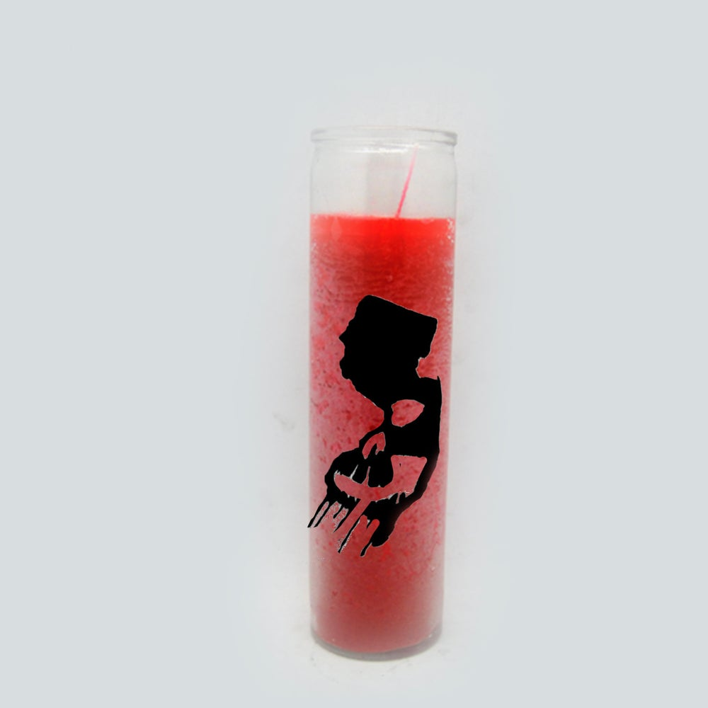 NJ Horror Con Red Candle with NJ Horror Con logo ( No sent)