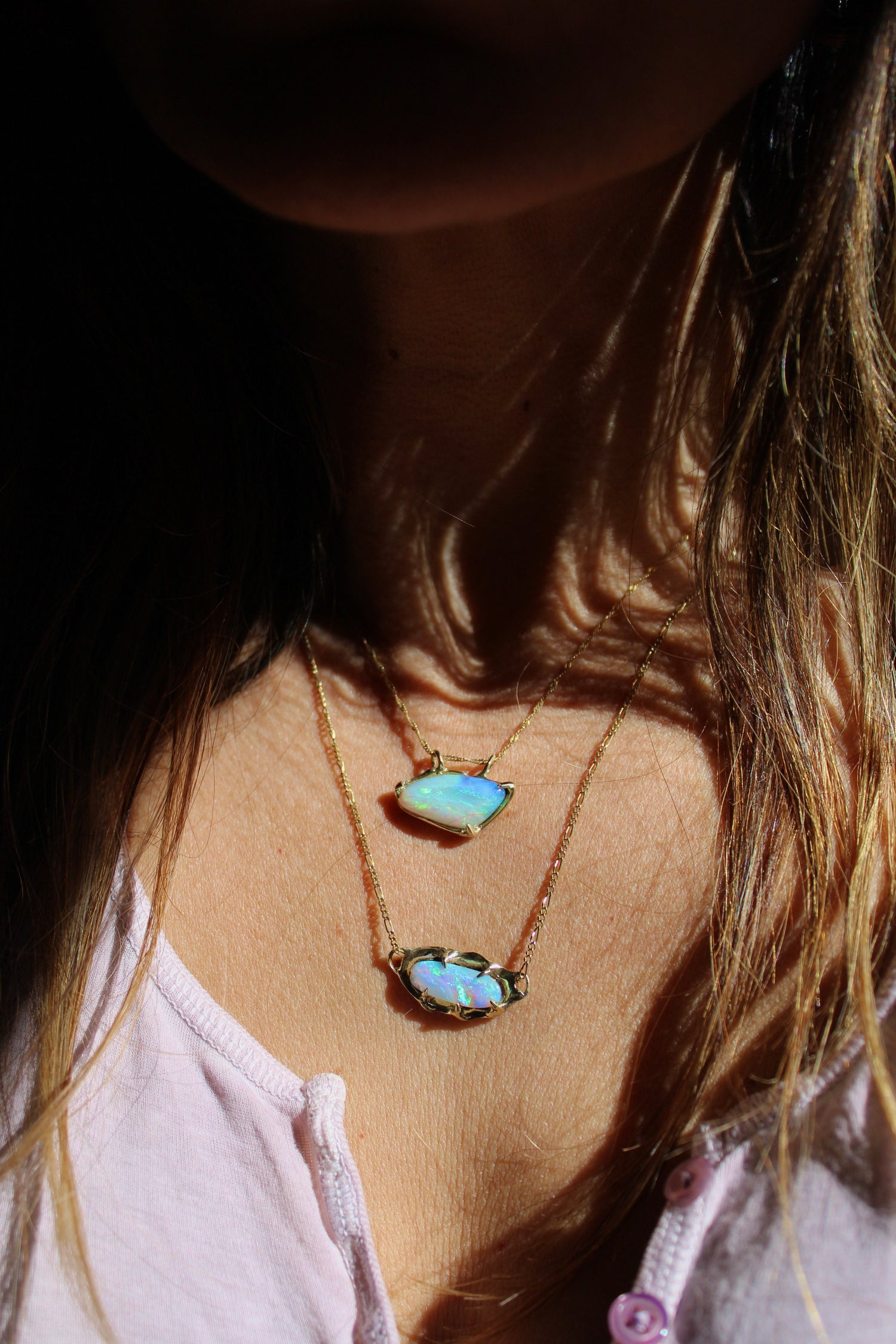 Image of Eye of Horus - Opal in 9ct gold