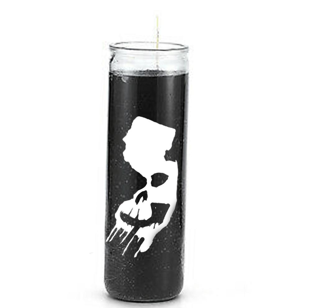 NJ Horror Con Black Candle with NJ Horror Con logo  in white ( No sent)