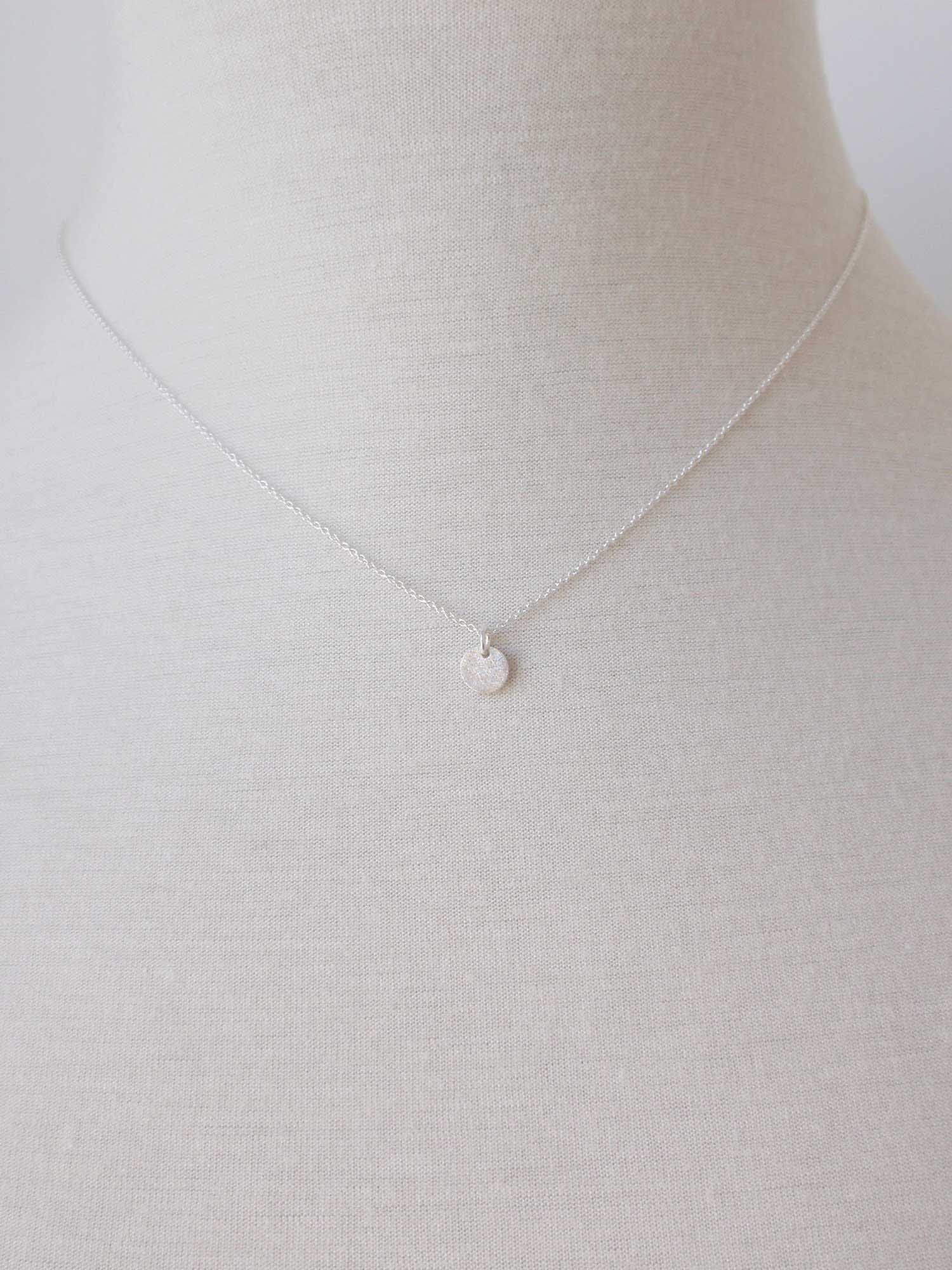Image of Tiny Circle Necklace