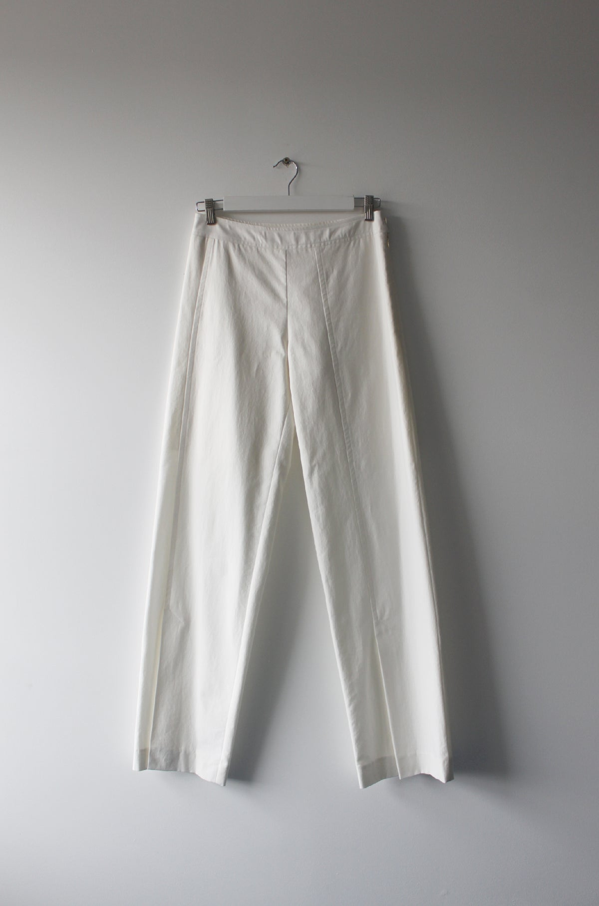 Organic cotton straight cut pants