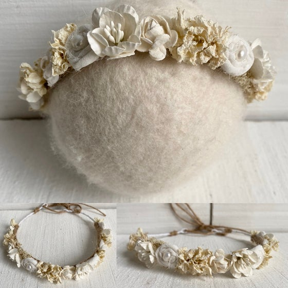 Image of Ivory rose crown