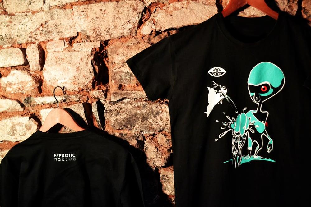 Image of 'Source' Black T-shirt
