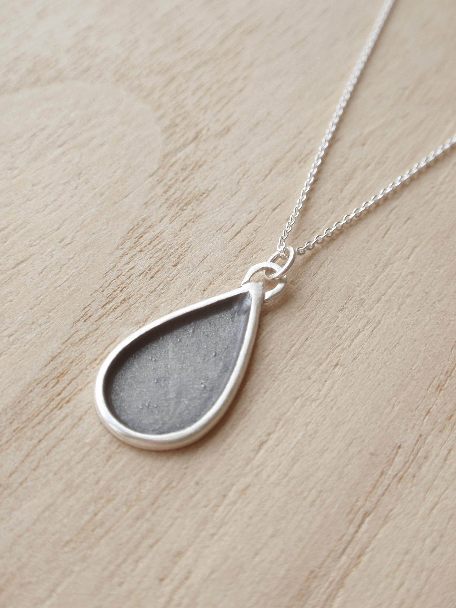 Image of Black Drop Necklace