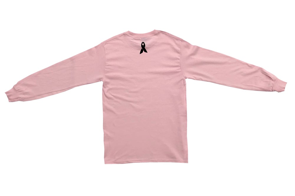 Image of O1FREE SIGNATURE BREAST CANCER LONG SLEEVE T-SHIRT PINK