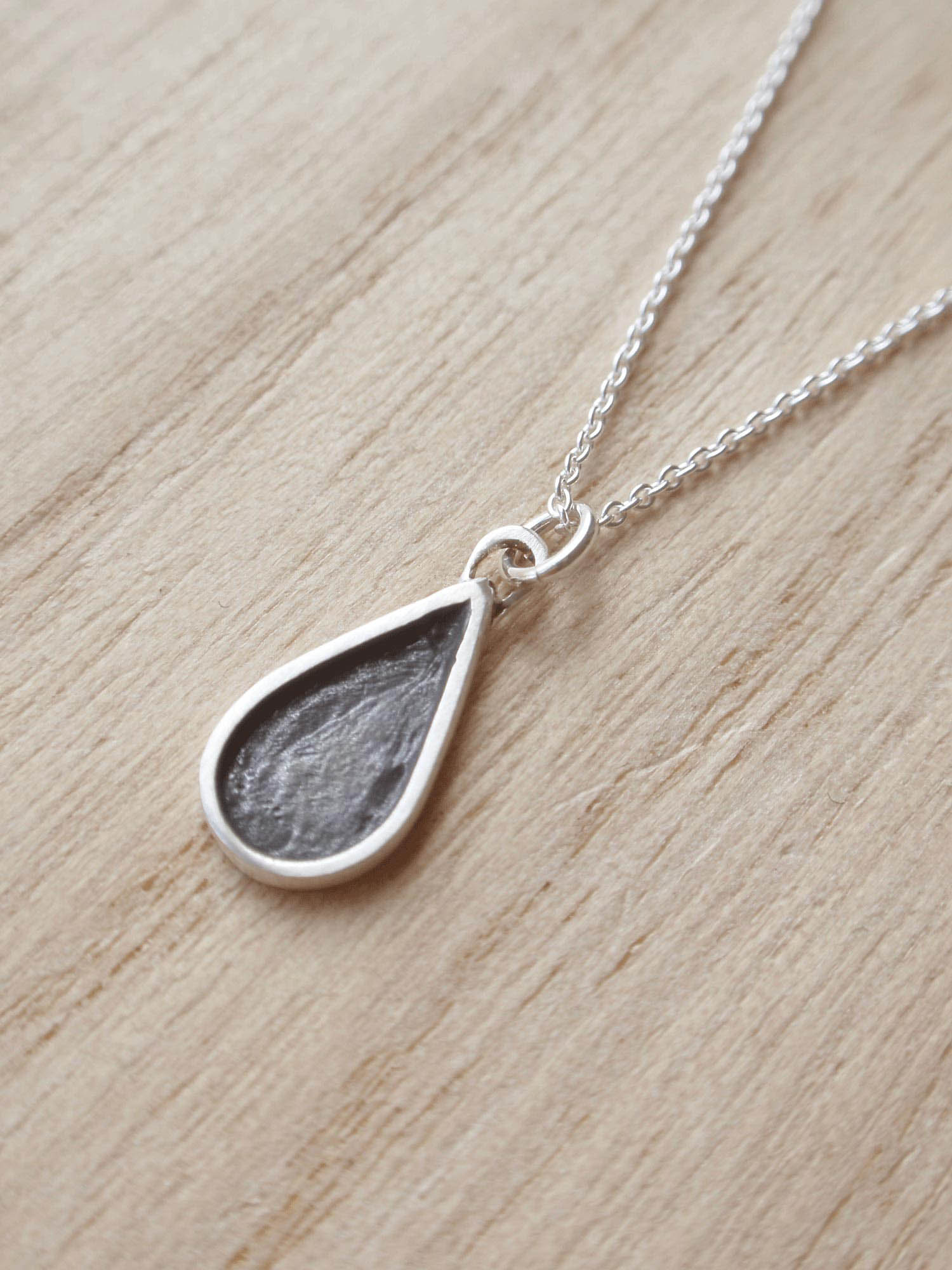 Image of Black Teardrop Necklace