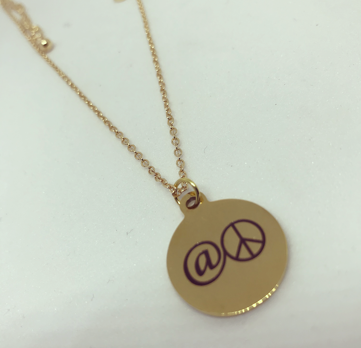 At Peace Charm Necklace