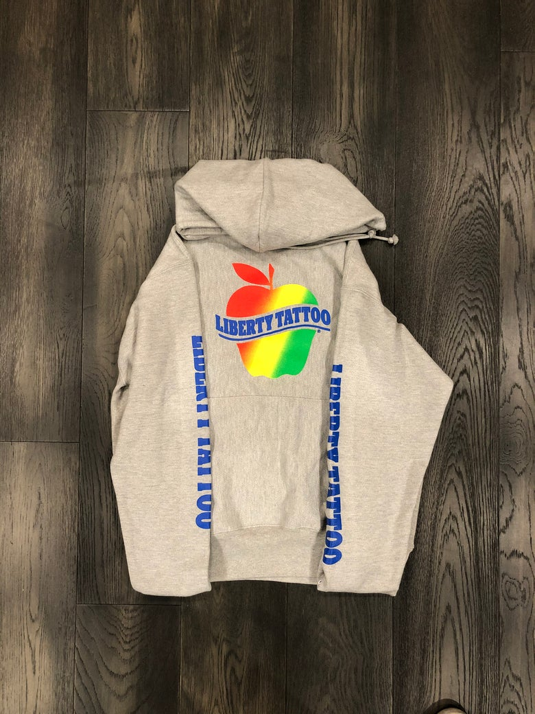 Image of Apple hoodie (Rainbow print)