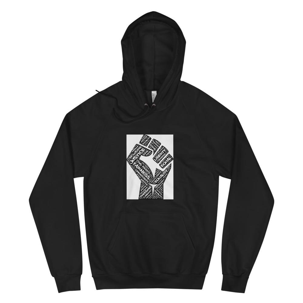 Image of Unisex Equality Fist Fleece Hoodie