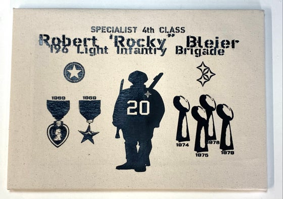 "Image of ""Warrior & Champion"" Rocky Bleier Limited Edition 1-off mounted canvas print"