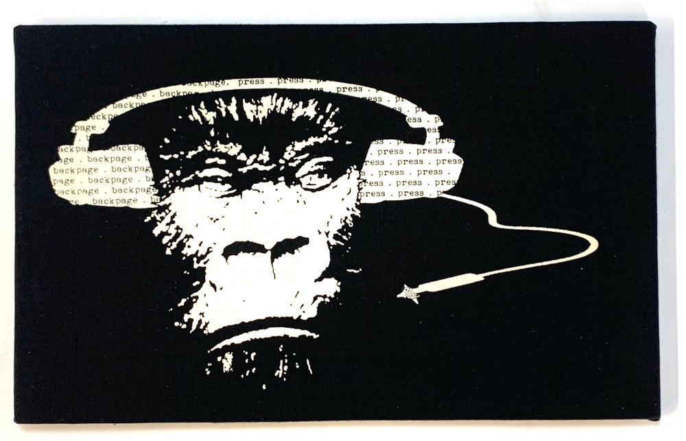 """Image of """"Mongo"""" Limited Edition 1-off mounted canvas print"""