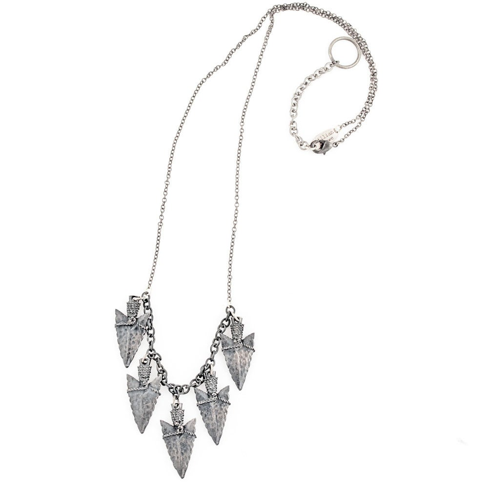 Image of Spearhead Cluster Necklace