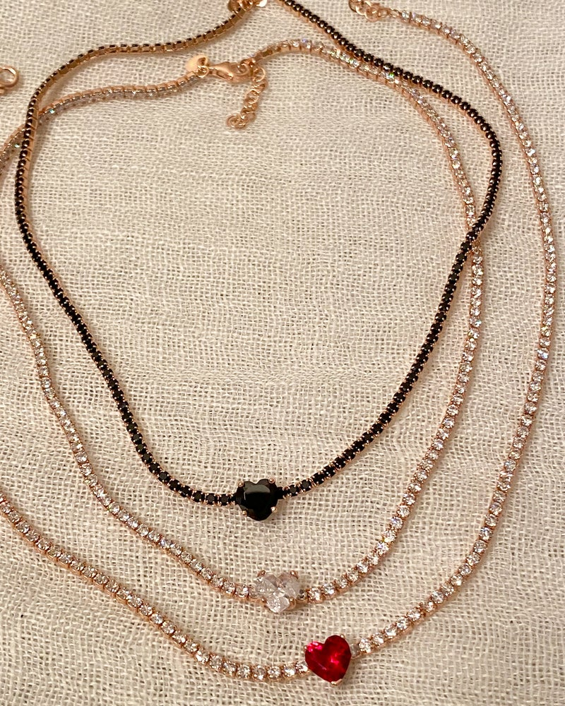 Image of CHOCKER ZIRCONI E CUORE