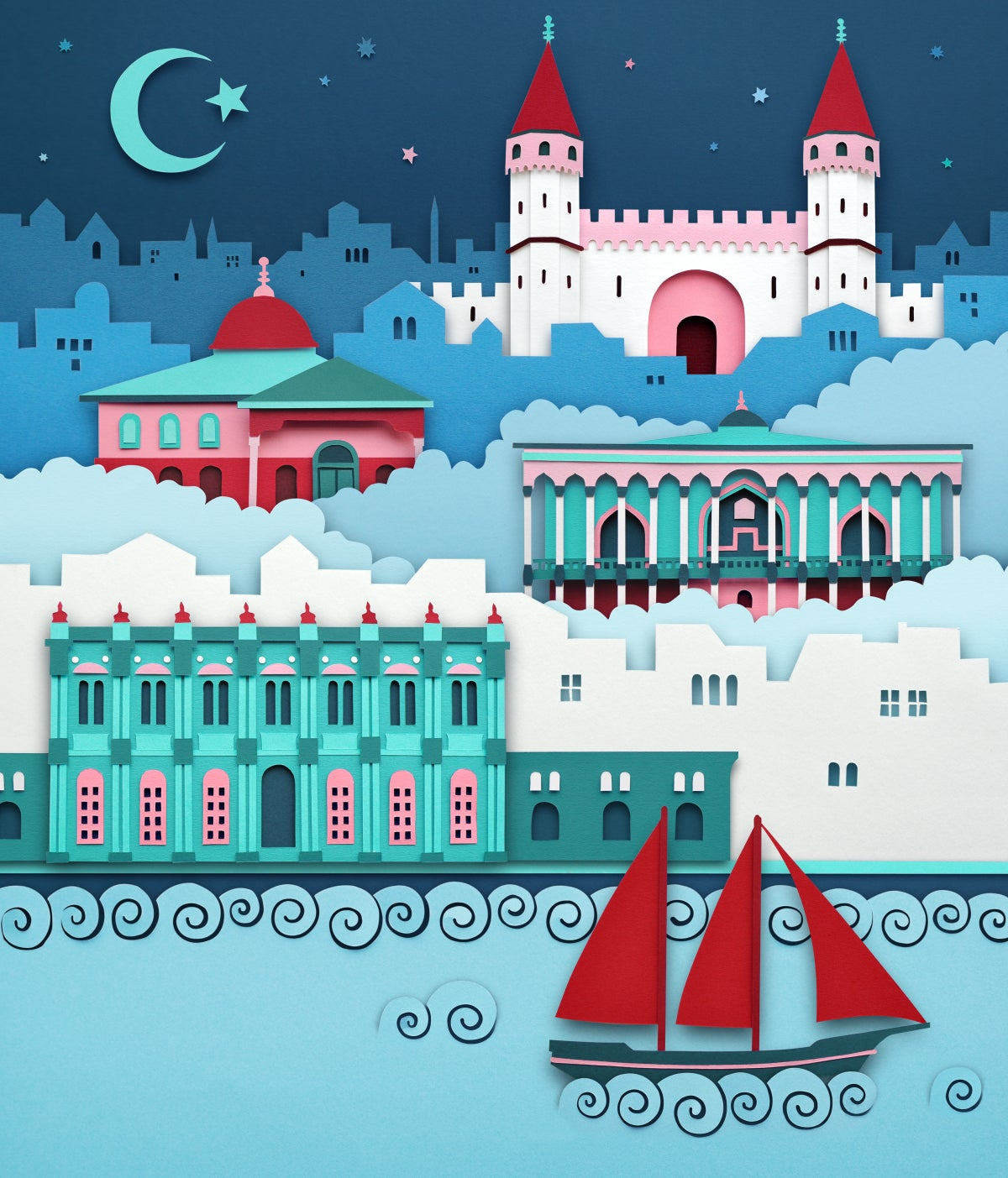Image of Istanbul Palaces - Limited Edition Giclée Print