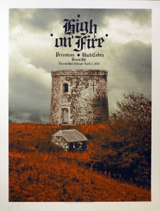Image of High On Fire, Chicago 2010 poster