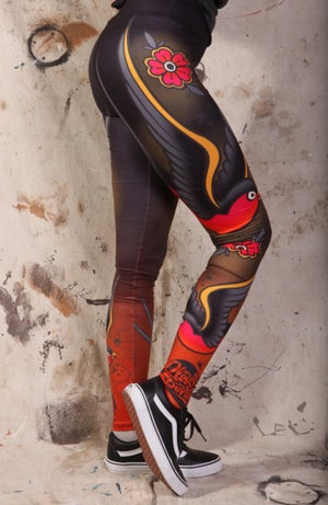 Image of Slowdown Traditonal Tattoo Leggings