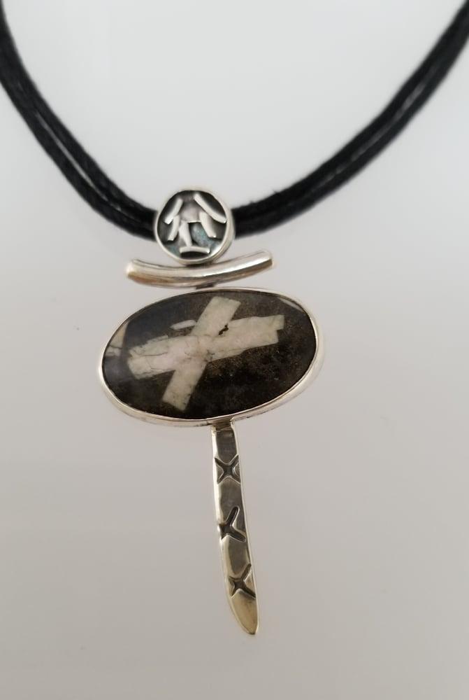 Chinese Writing Stone Pendant