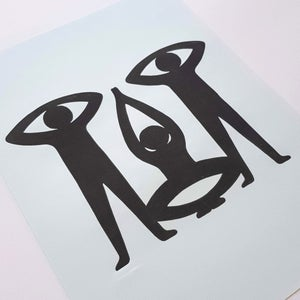 Image of Limited edition linocut print 30 x 40 cm 'Expression Corporelle'
