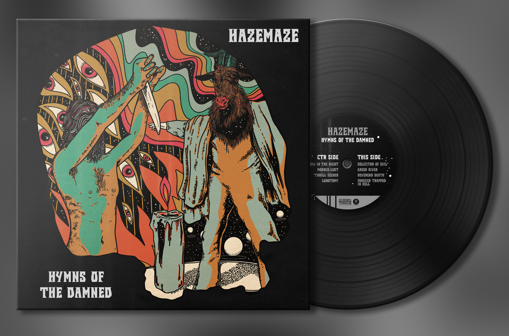 Image of Hazemaze - Hymns of the Damned Funeral Black Special Edition LP