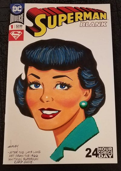Image of LOIS LANE ORIGINAL ART SKETCH COVER! SILVER AGE-STYLE! SUPERMAN!