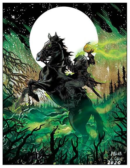 Image of Headless Horseman 8.5 x 11 limited print