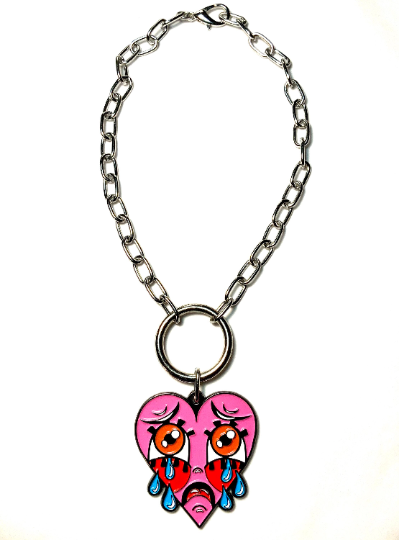 Image of Crybaby Heart O-Ring Necklace