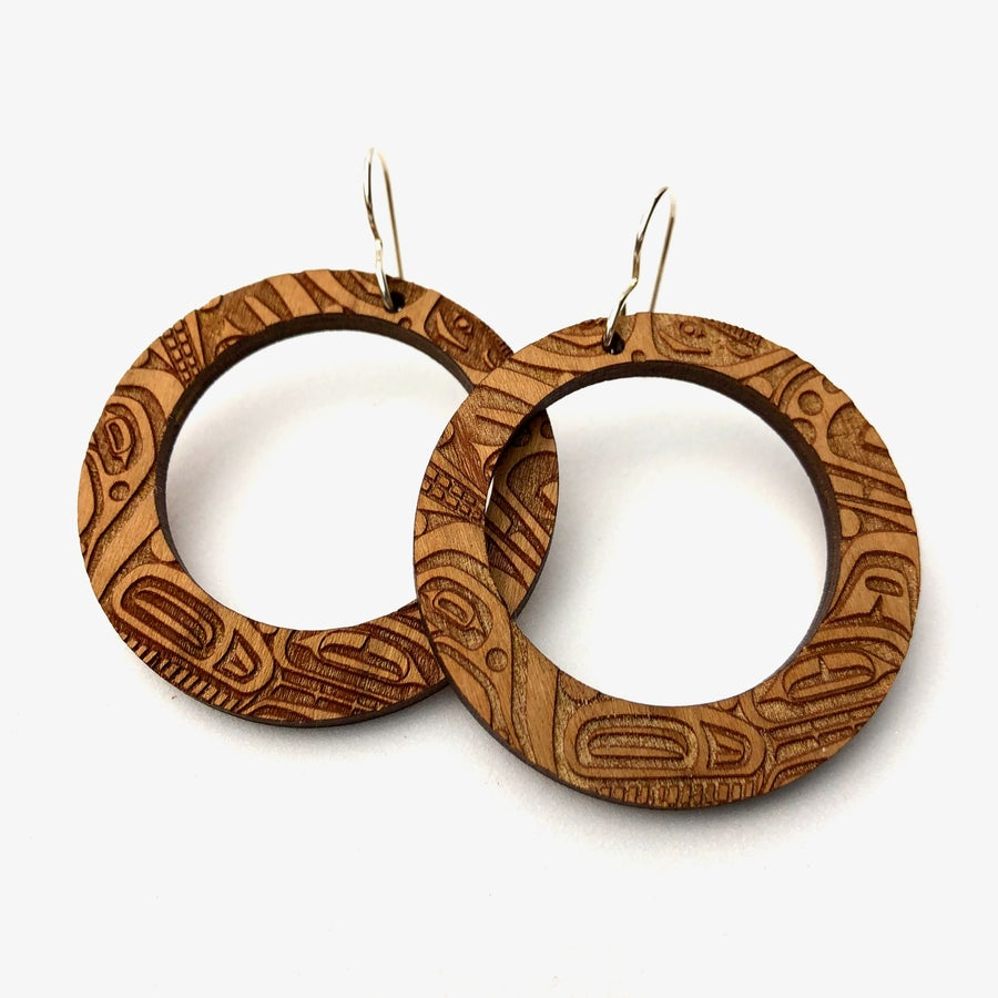 Image of Beast Collective Earrings (Wood)