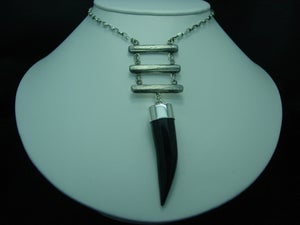 Image of agate tooth necklace