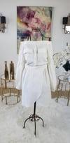 Linen Off The Shoulder Double Pocket Dress
