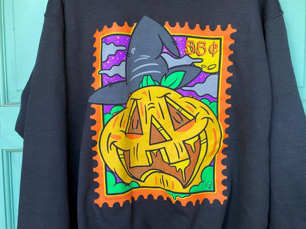 Pumpkin Stamp Crewneck Sweater