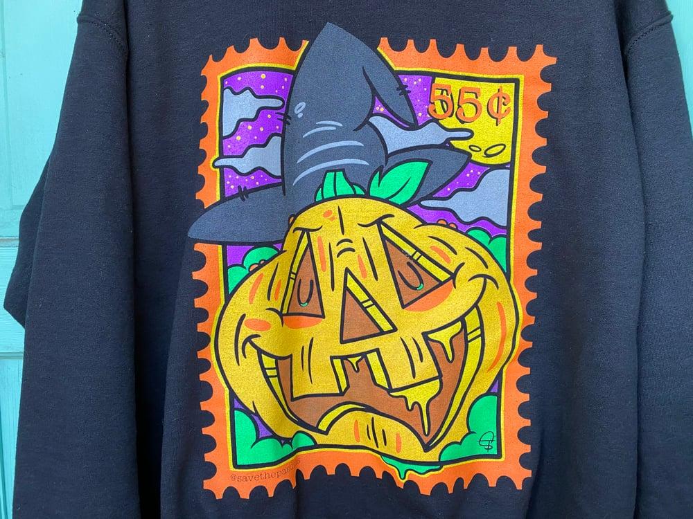 Image of Pumpkin Stamp Crewneck Sweater