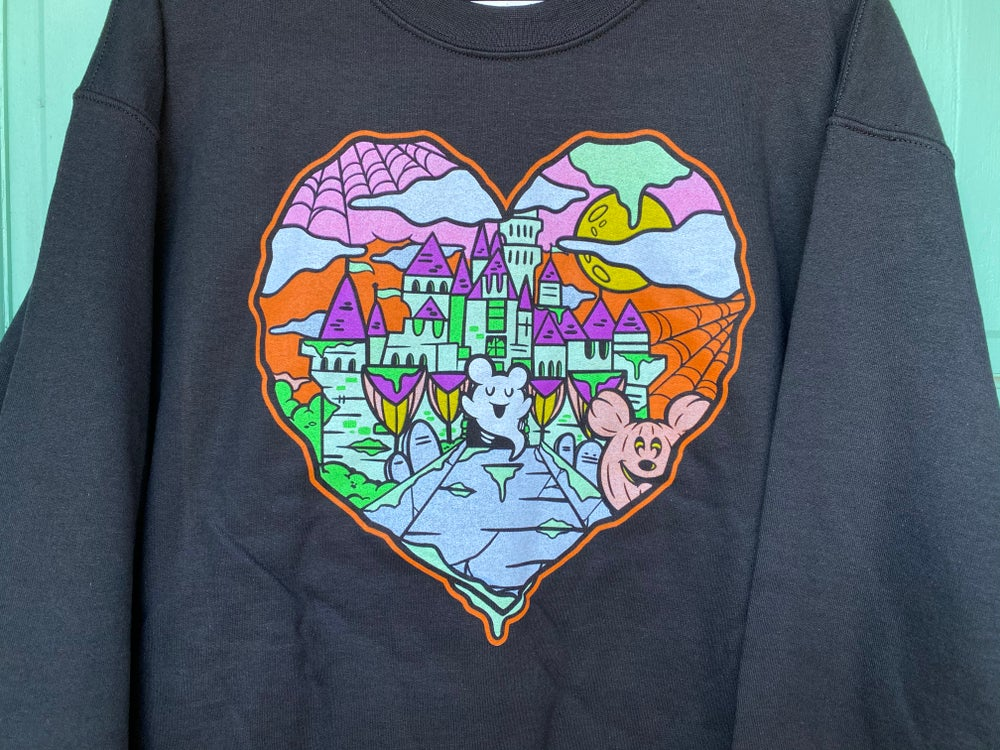 Image of Halloween Castle Love Crewneck Sweater
