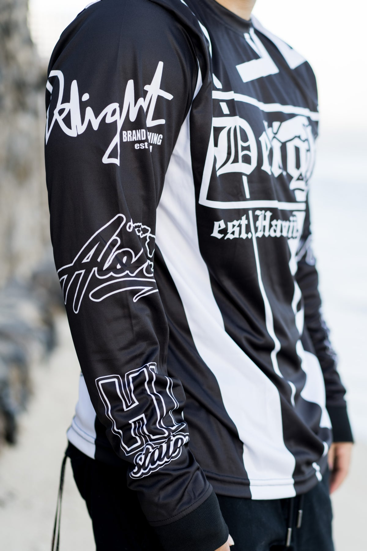 Delight EST. Black/White Sublimation Longsleeve