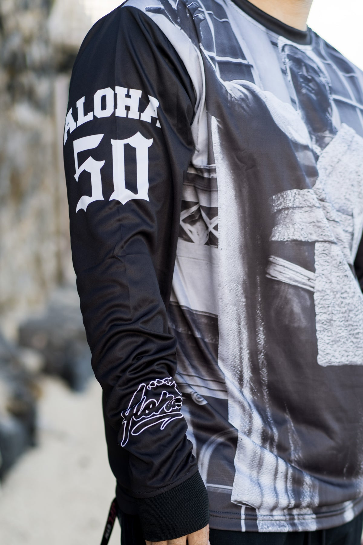 King. K Greyscale Sublimation Longsleeve