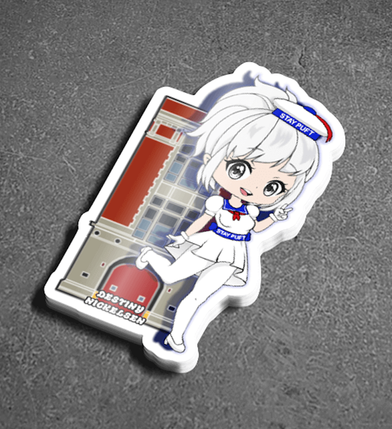 Image of STAY PUFT FIREHOUSE STICKER