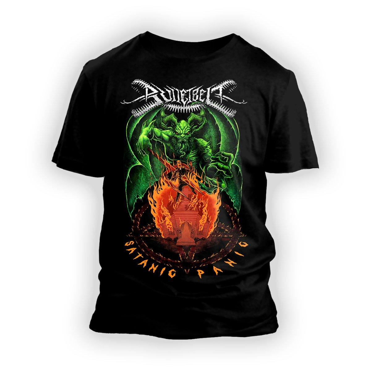 "Image of Bulletbelt ""Satanic Panic"" T-Shirt"