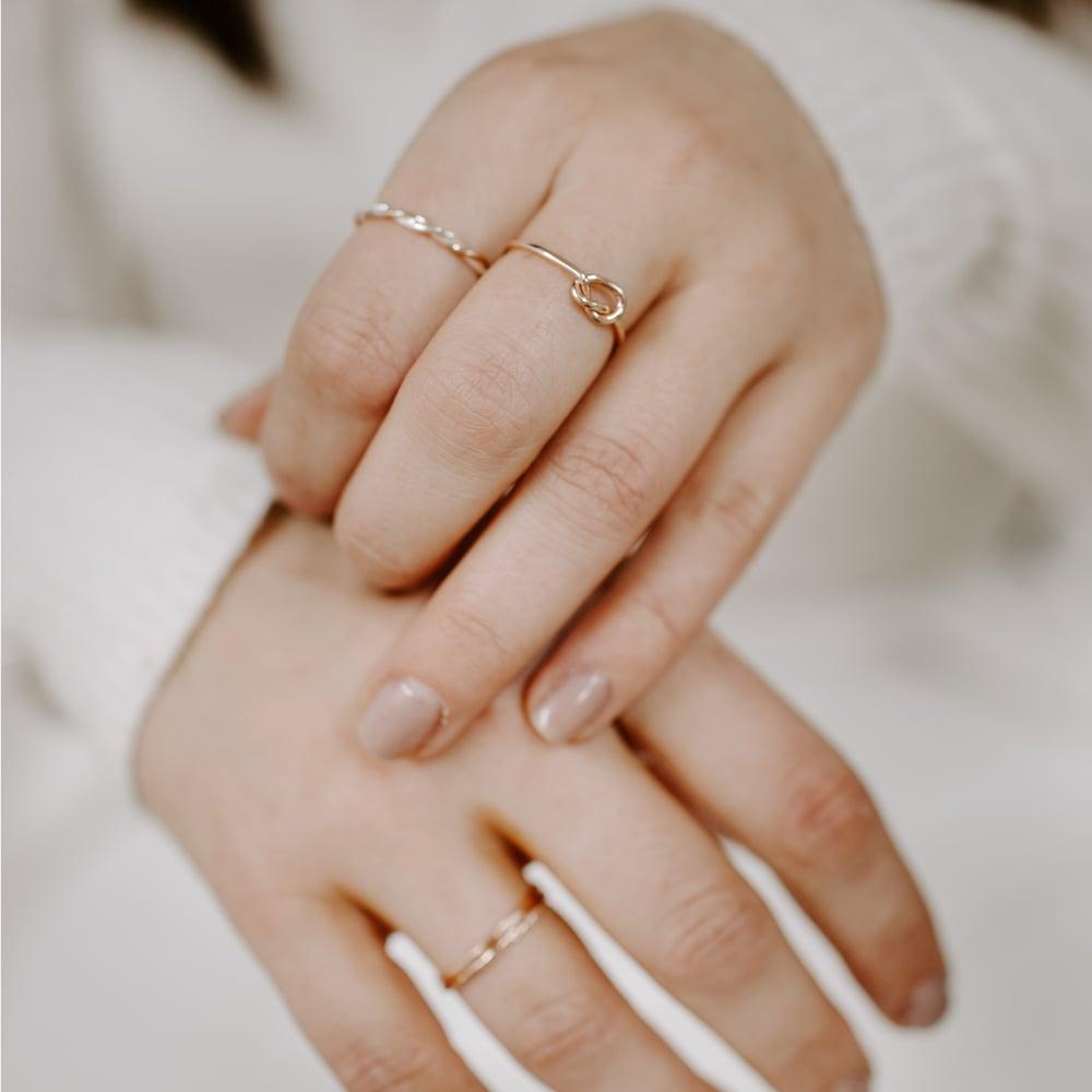 Image of Set of 3 9ct Rose Gold Stacking Rings